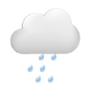 Symbolgrafik: wolkenreich - Regen
