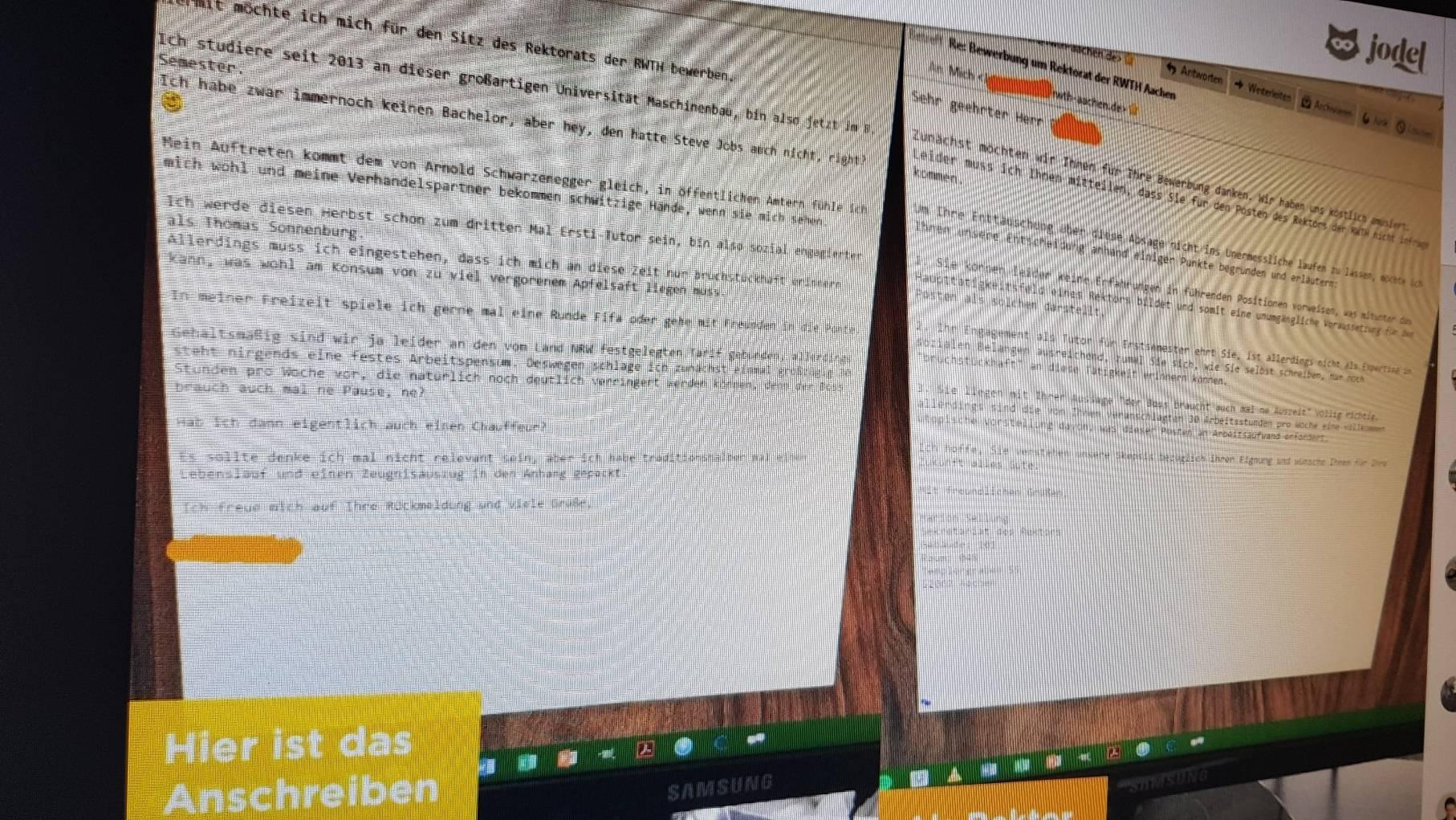 Aachen Student Will Rwth Rektor Werden Fake