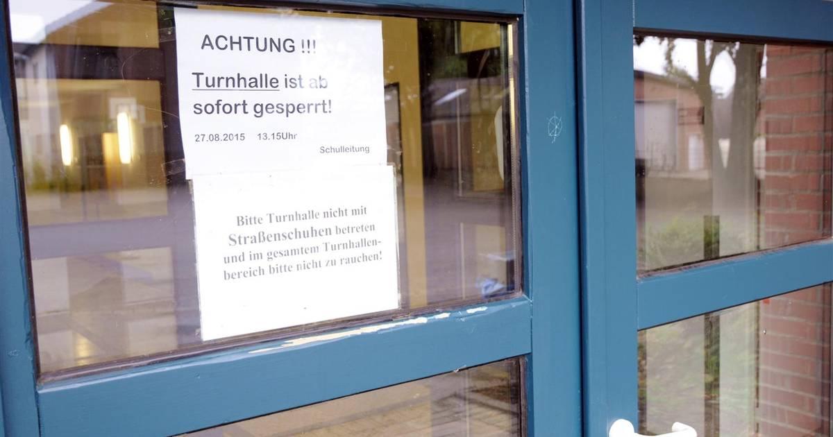 Klettergerüst Turnhalle : Johannes schoch schule königsbach stein unser neues klettergerüst