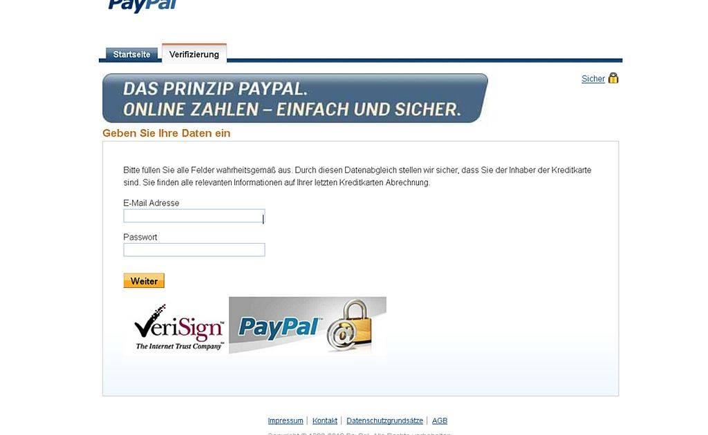 Paypal Keine Sms