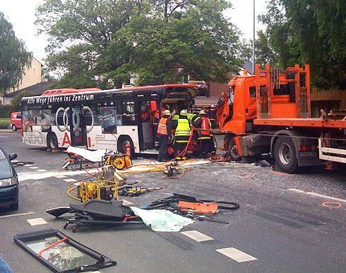 Busunfall Aachen