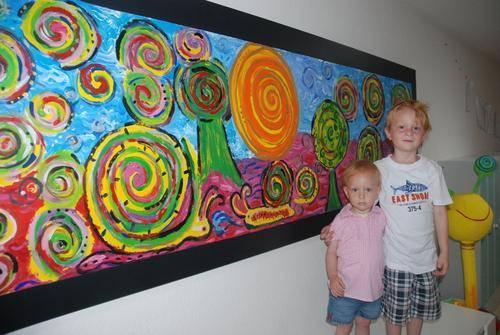 Kreuzau Kleine Kunstler Malen Wie Hundertwasser