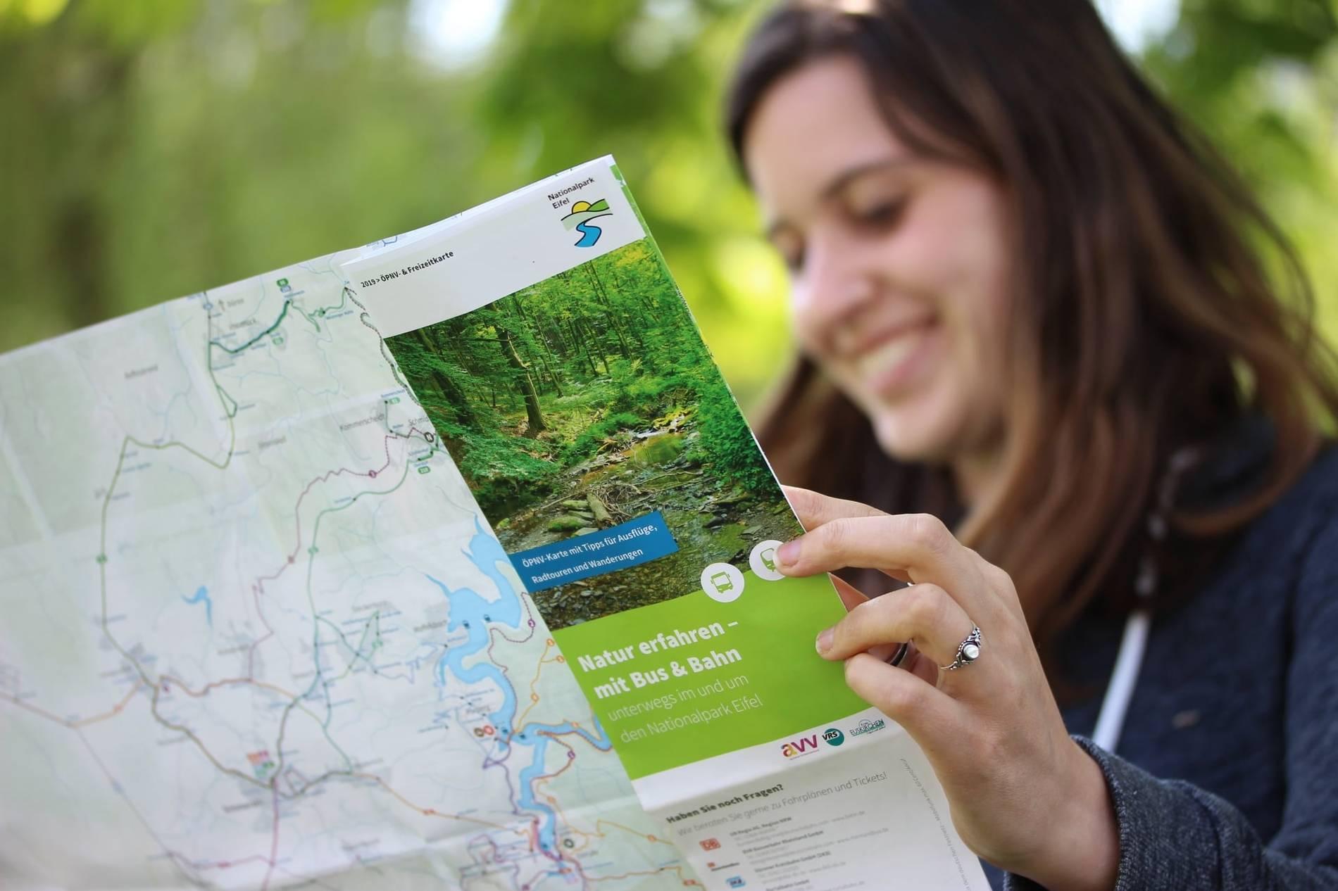 Nationalpark Eifel Karte.Neu Aufgelegte öpnv Karte Für Den Nationalpark Eifel